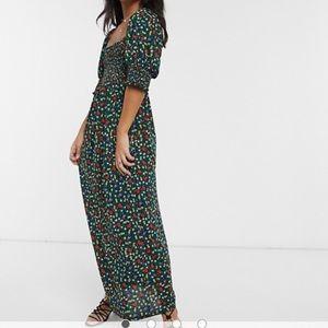 BNWT ASOS petite shirred bust maxi dress-Ditsy